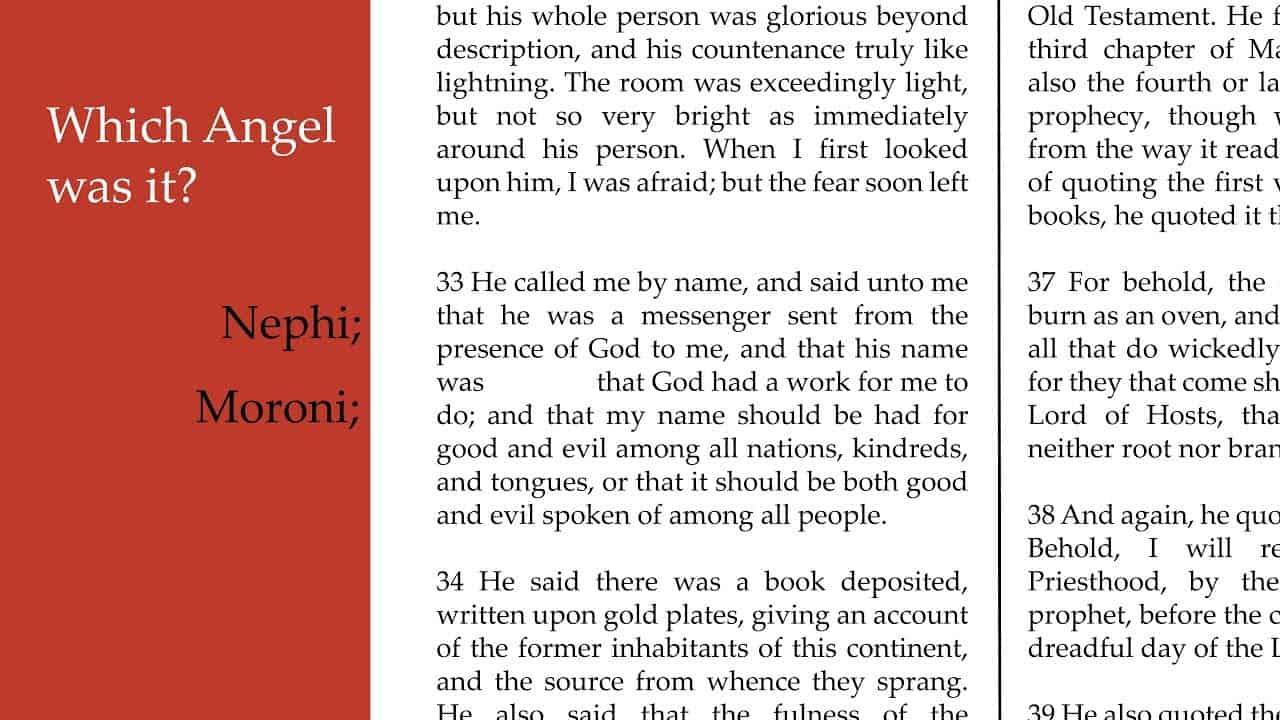 Nephi of Moroni Angel