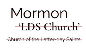 Mormons now Non-Mormons