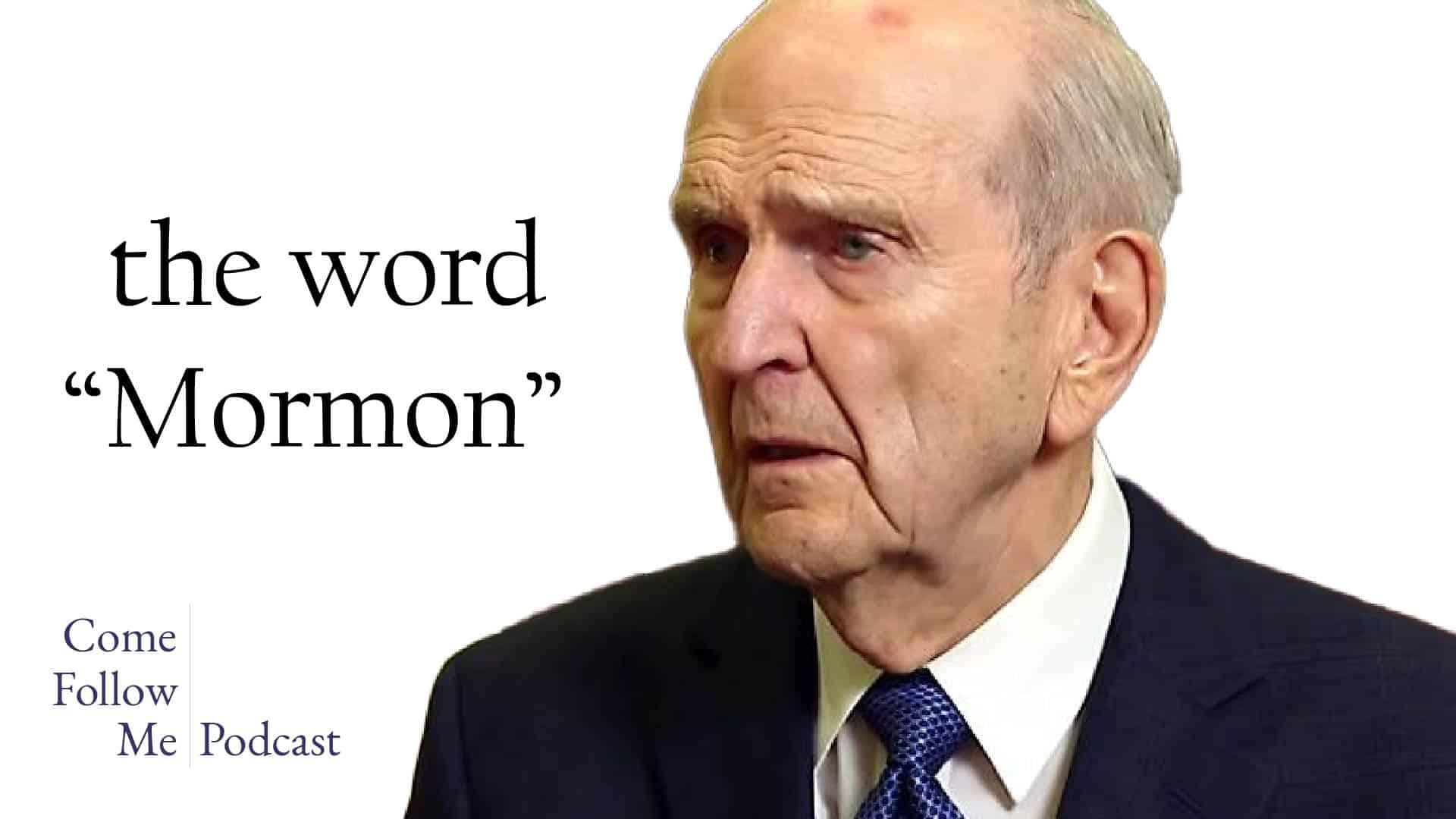 The Word Mormon
