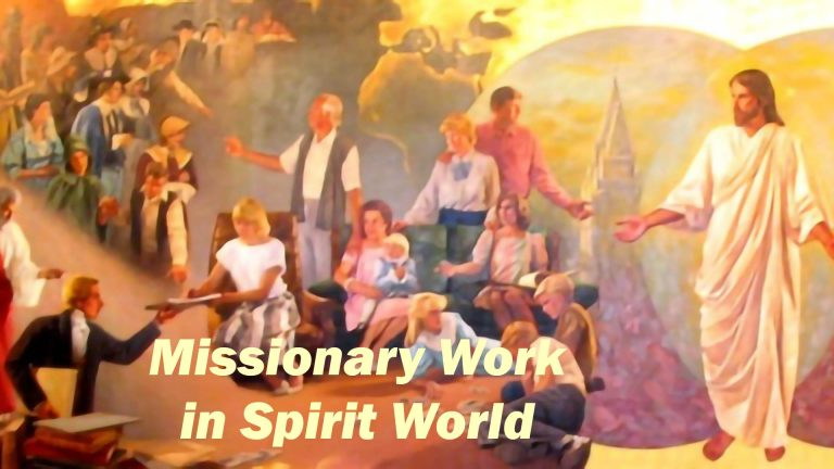Missionary work in Spirit World