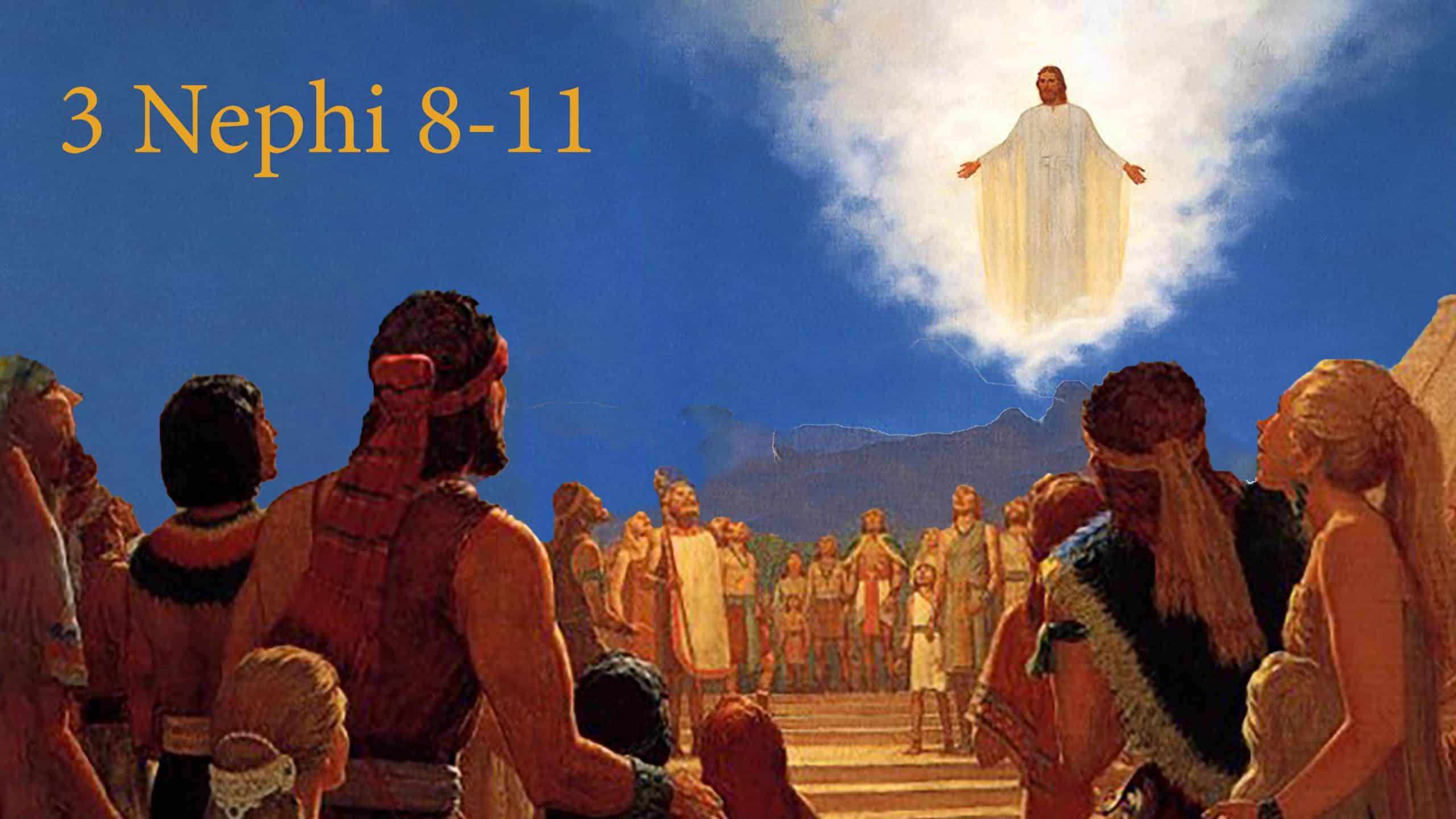 Jesus descending down to the Nephites
